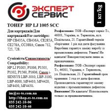 Тонер HP LJ P1560/1566/1600/1606/1530 /1005/1006/1102/1505/M1522 SCC, 1 кг